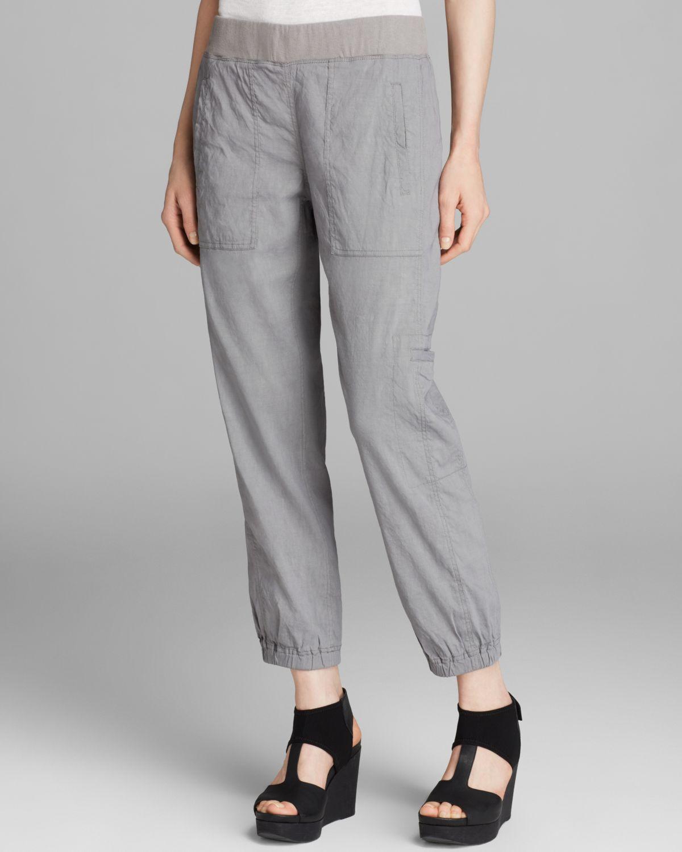 ec218b13e134 Lyst - Eileen Fisher Cargo Ankle Pants in Gray