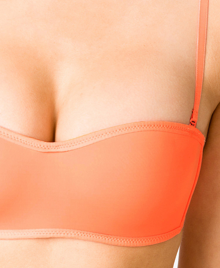 Forever 21 Wireless Microfiber Convertible Bandeau Bra in Orange ...