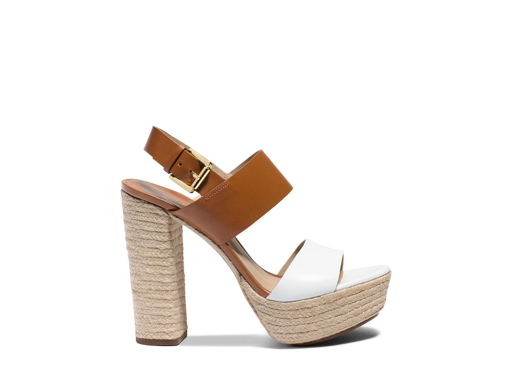 ca18e190e7d9 Lyst - Michael Kors Espadrille Platform Sandals - Summer High Heel ...