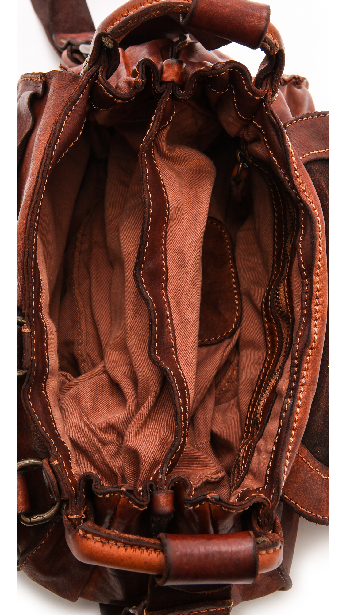 f60dc7dee157 Lyst - Campomaggi Washed Leather Shoulder Bag - Cognac in Brown