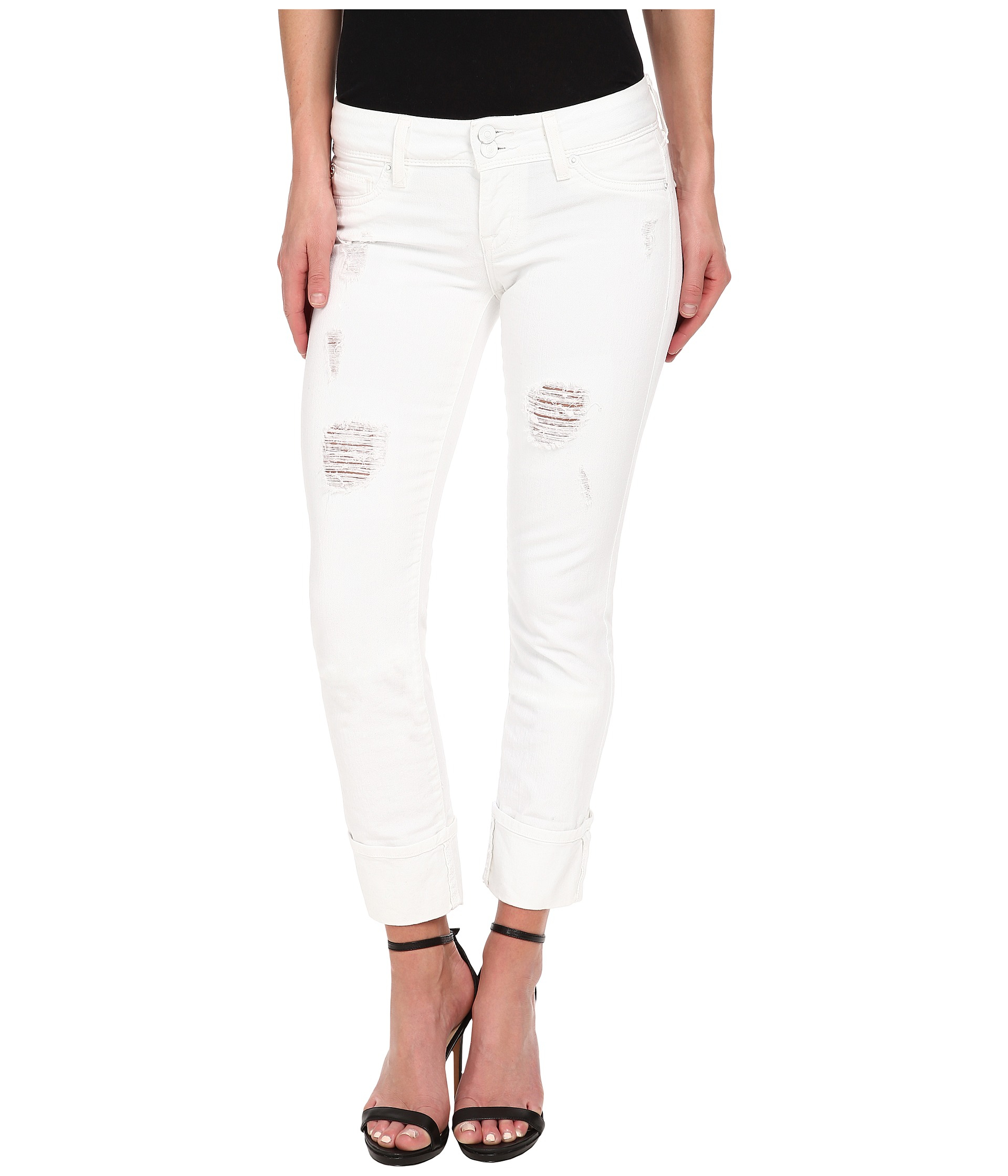 Hudson jeans Ginny Crop With Distressing In Gateways (White ...