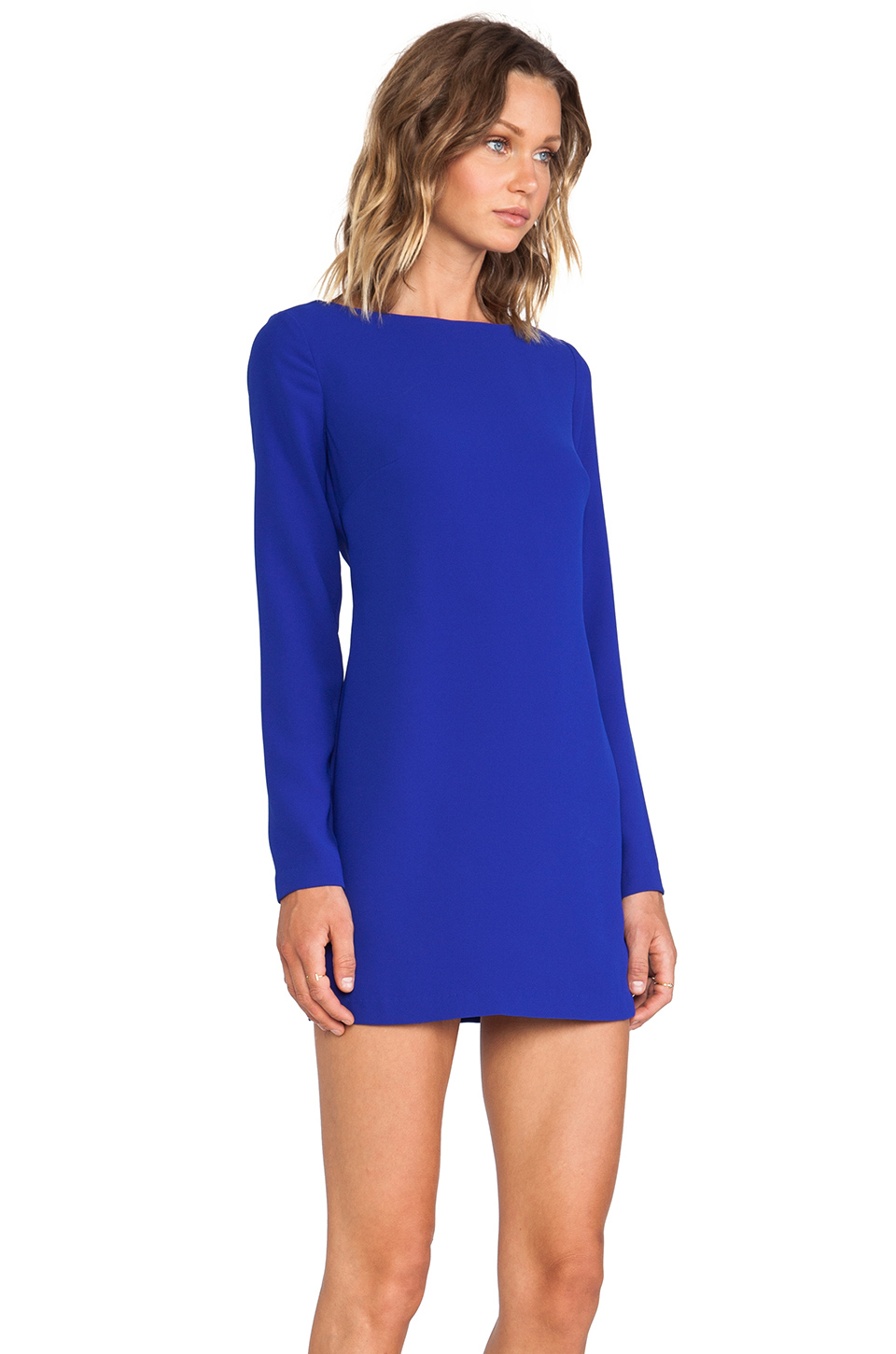 Shona joy Magnetic Long Sleeve Shift Dress in Blue | Lyst