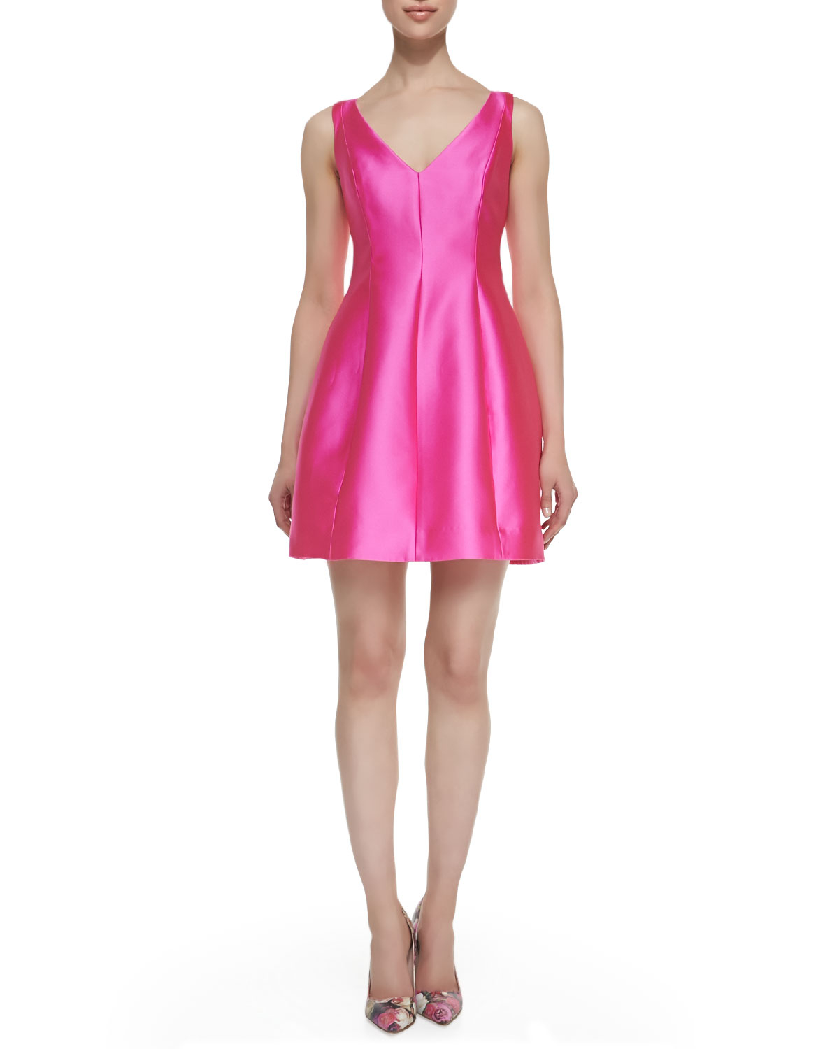 kate spade sleeveless structured mini dress in pink rio pink lyst. Black Bedroom Furniture Sets. Home Design Ideas
