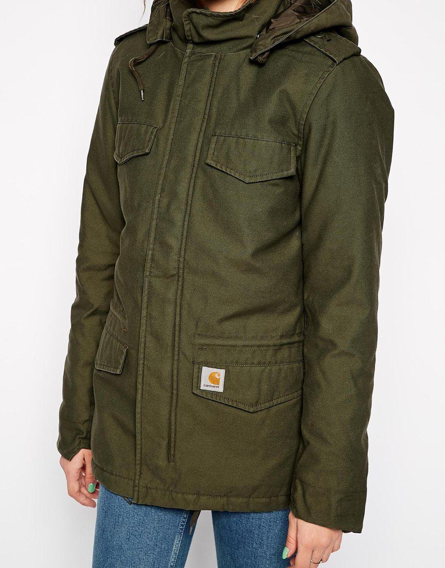 Lyst Carhartt Hooded Parka Coat In Green
