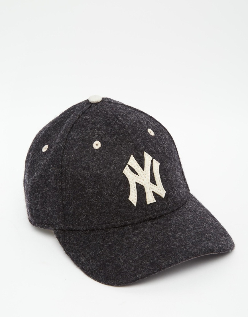 59707432888 ... good lyst ktz 39thirty ny yankees wool fitted cap in blue for men e533e  a389f