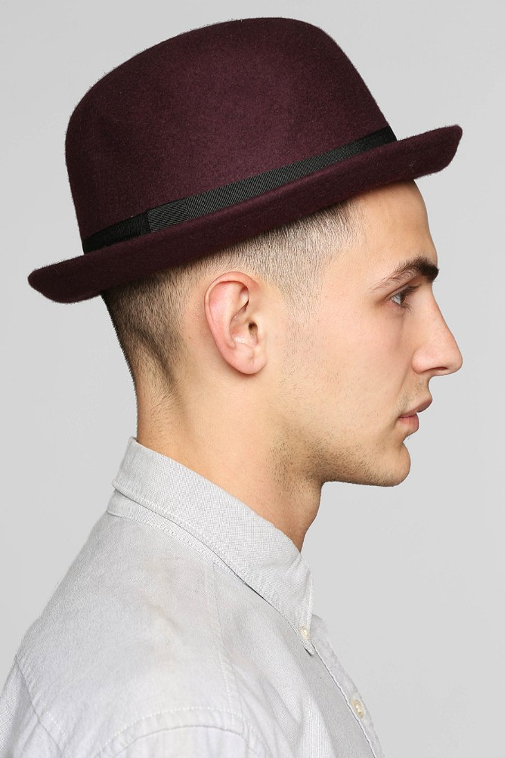 0fbdcf5801b7f Urban Outfitters Felt Bowler Hat in Brown for Men - Lyst