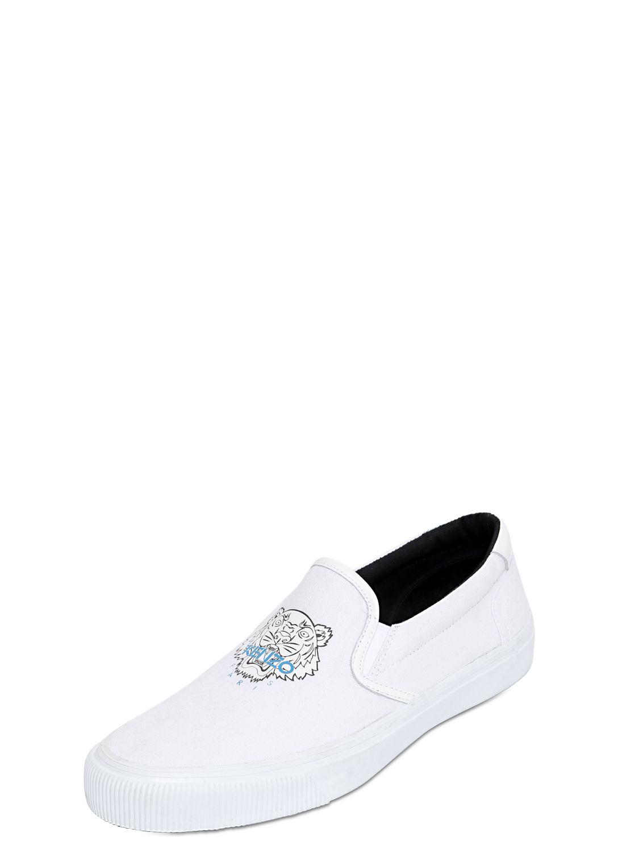 outlet very cheap Kenzo Men's White Cotton Slip O... visit new for sale vpfSz