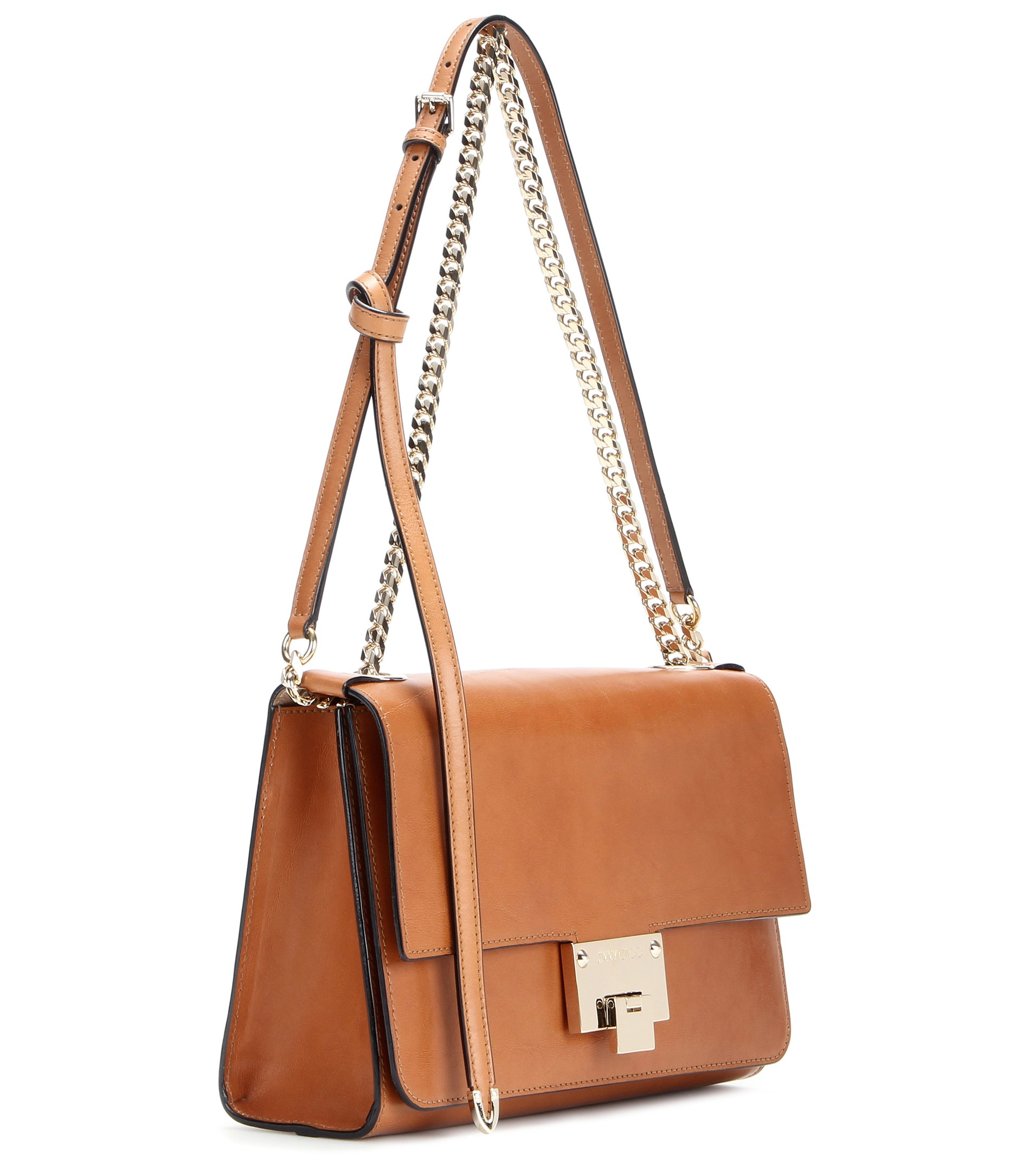 Jimmy choo Rebel Soft Leather Shoulder Bag in Brown | Lyst