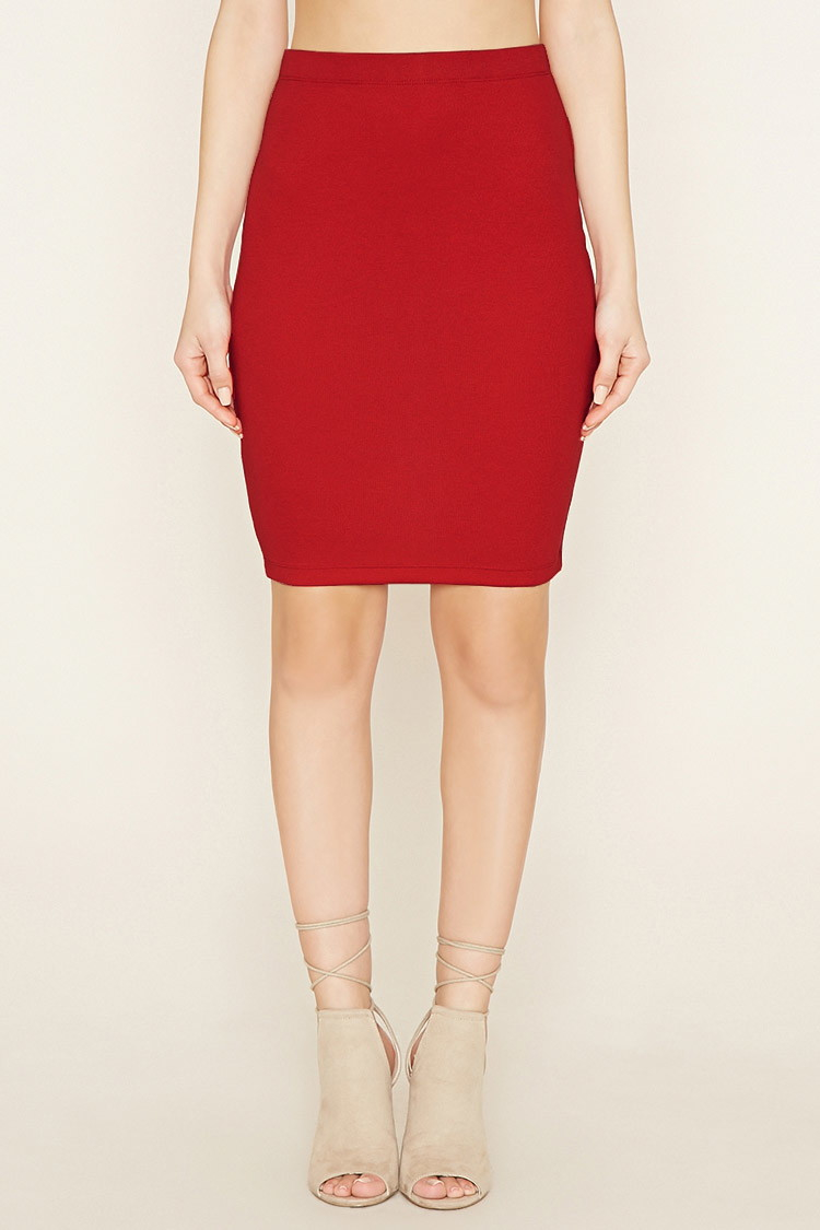 forever 21 bodycon pencil skirt in lyst