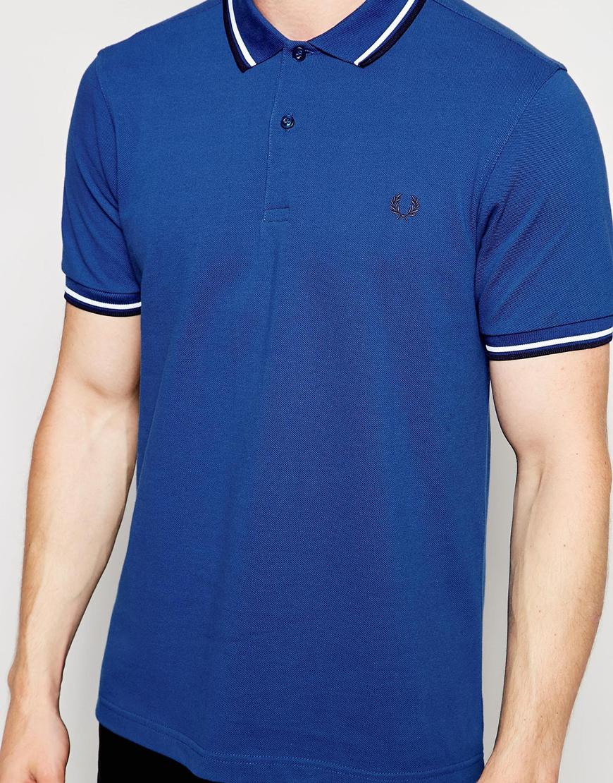 Lyst Fred Perry Polo Shirt With Twin Tip In Slim Fit