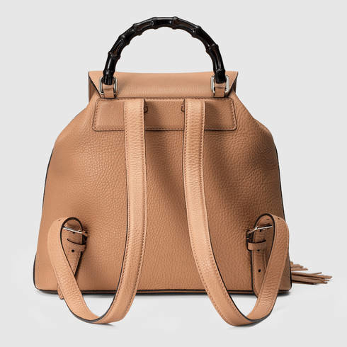 54933fbf534 Lyst - Gucci Bamboo Leather Backpack in Pink