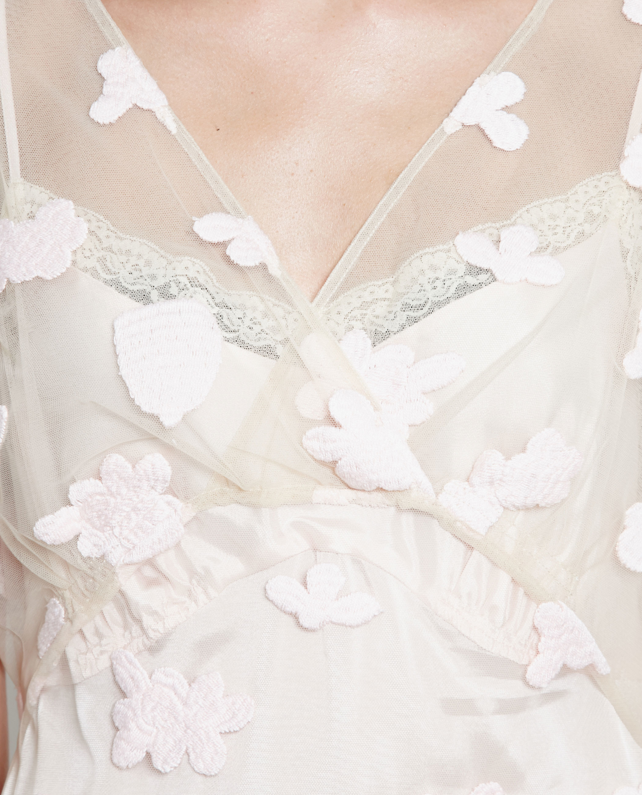 Simone rocha floral embroidered tie dress in pink lyst