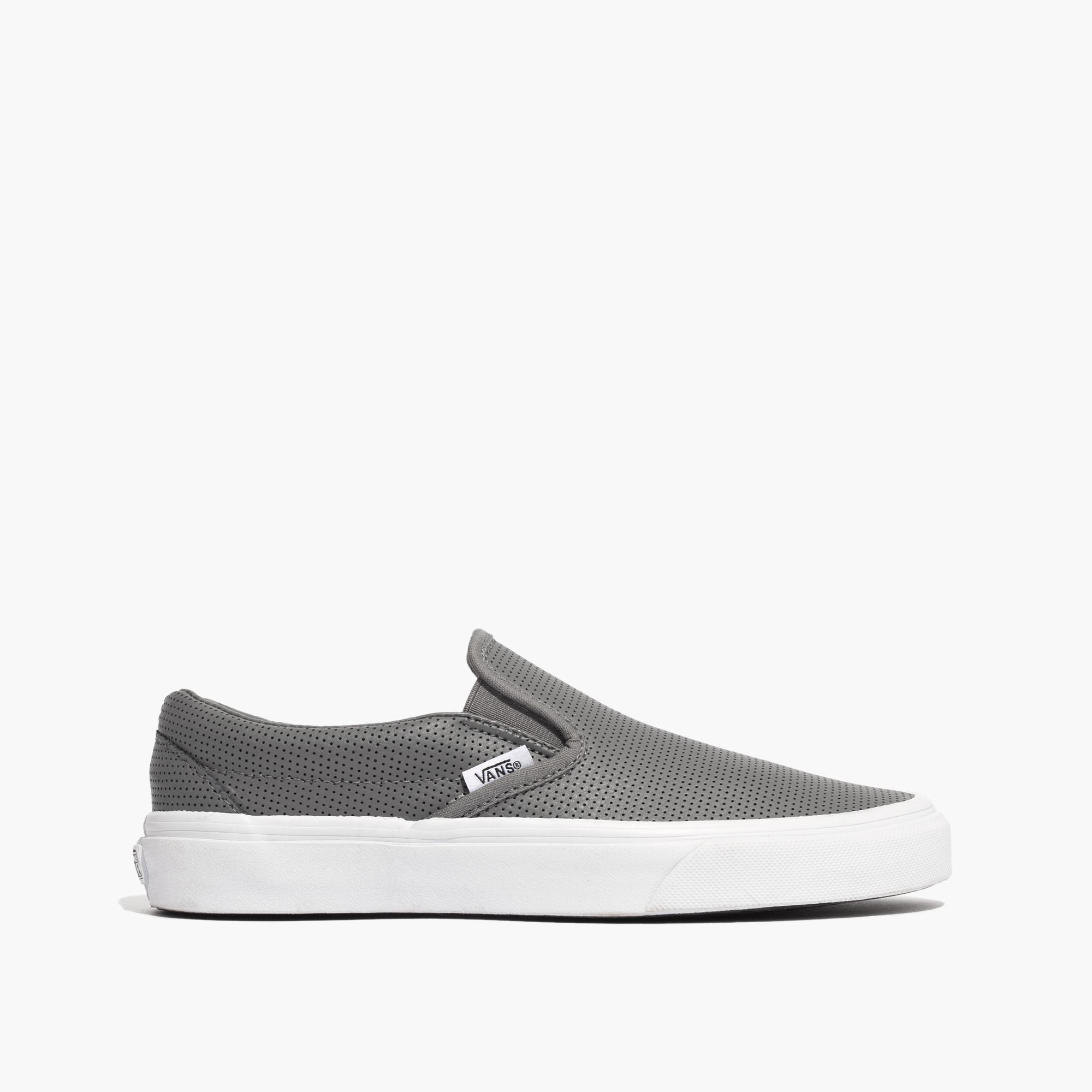 55000fcda06 Lyst - Madewell Vans® Classic Slip-on Sneakers In Grey Perforated ...