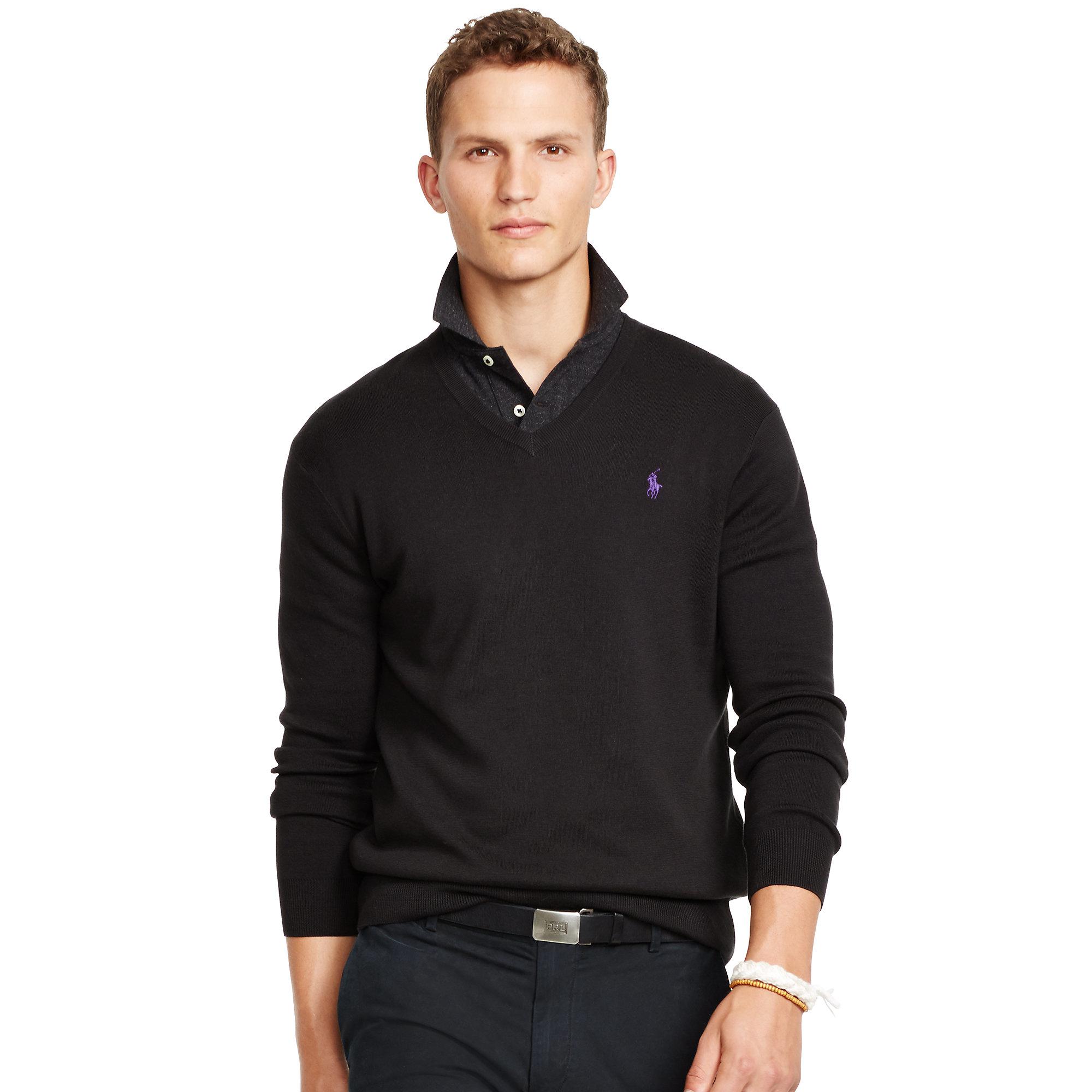 black polo cotton v neck vest sweater male models picture. Black Bedroom Furniture Sets. Home Design Ideas