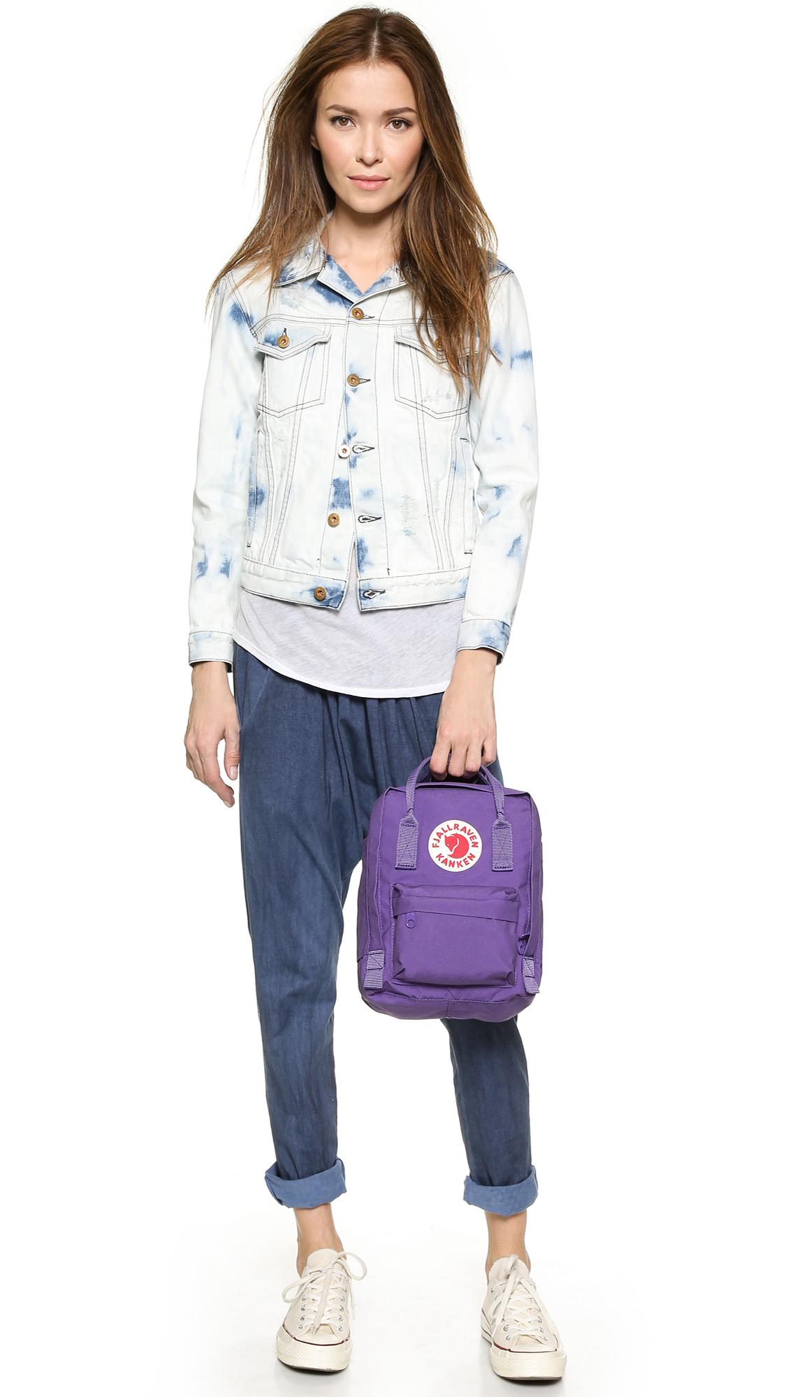 fjällräven mini kånken water resistant backpack
