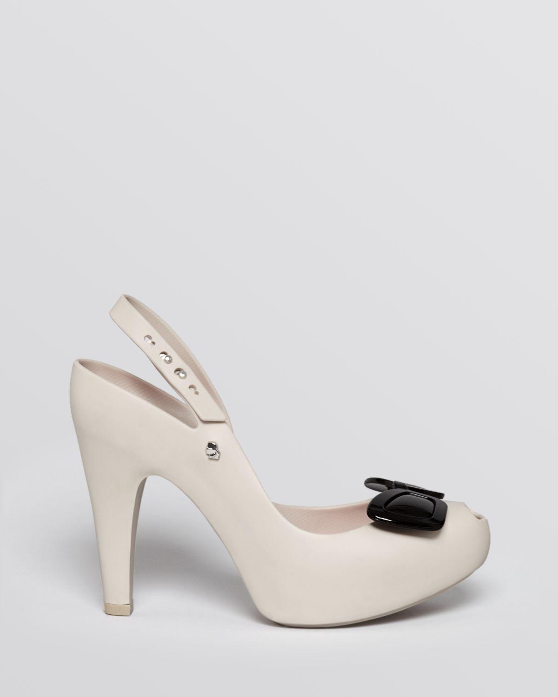Melissa x Karl Lagerfeld Peep-Toe Platform Pumps limited edition online F2gKipu