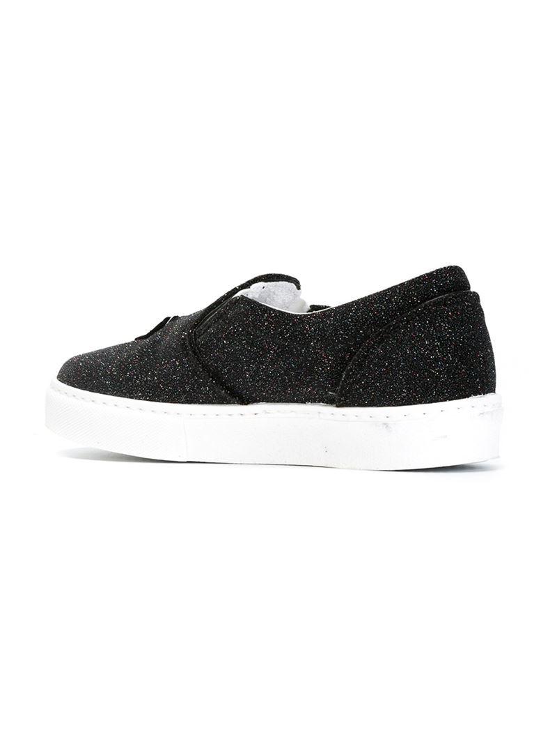 Sneakers Black Ferragni 'flirting' in Lyst Slip on Chiara B0xZXPnqw7
