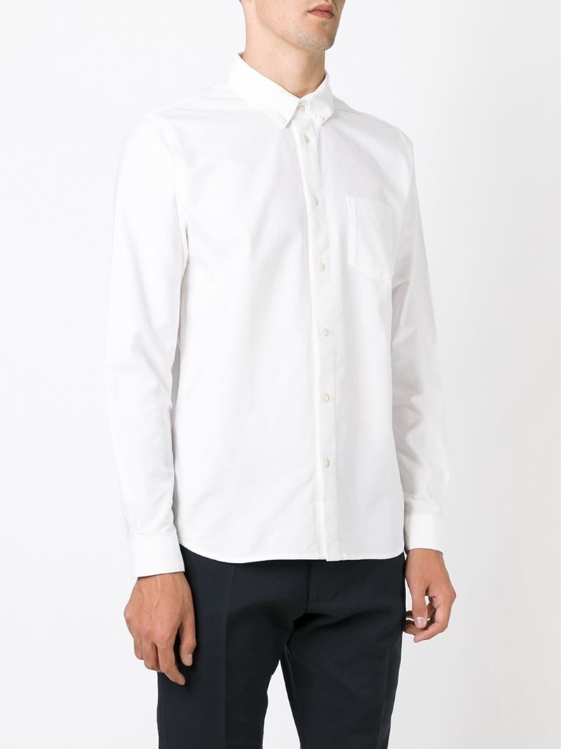 Folk classic button down shirt in white for men lyst for Preppy button down shirts