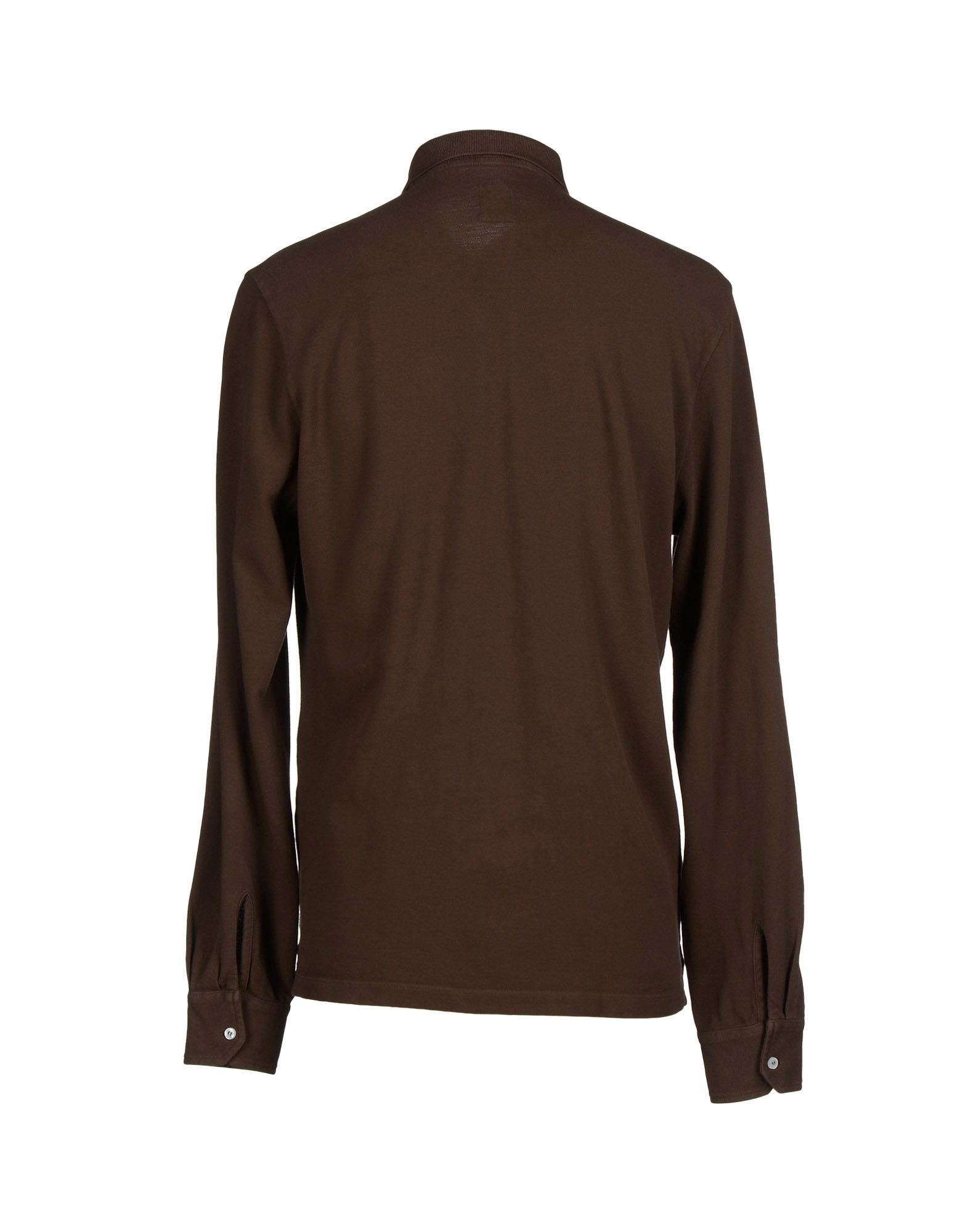 Eleventy Polo Shirt In Brown For Men Lyst