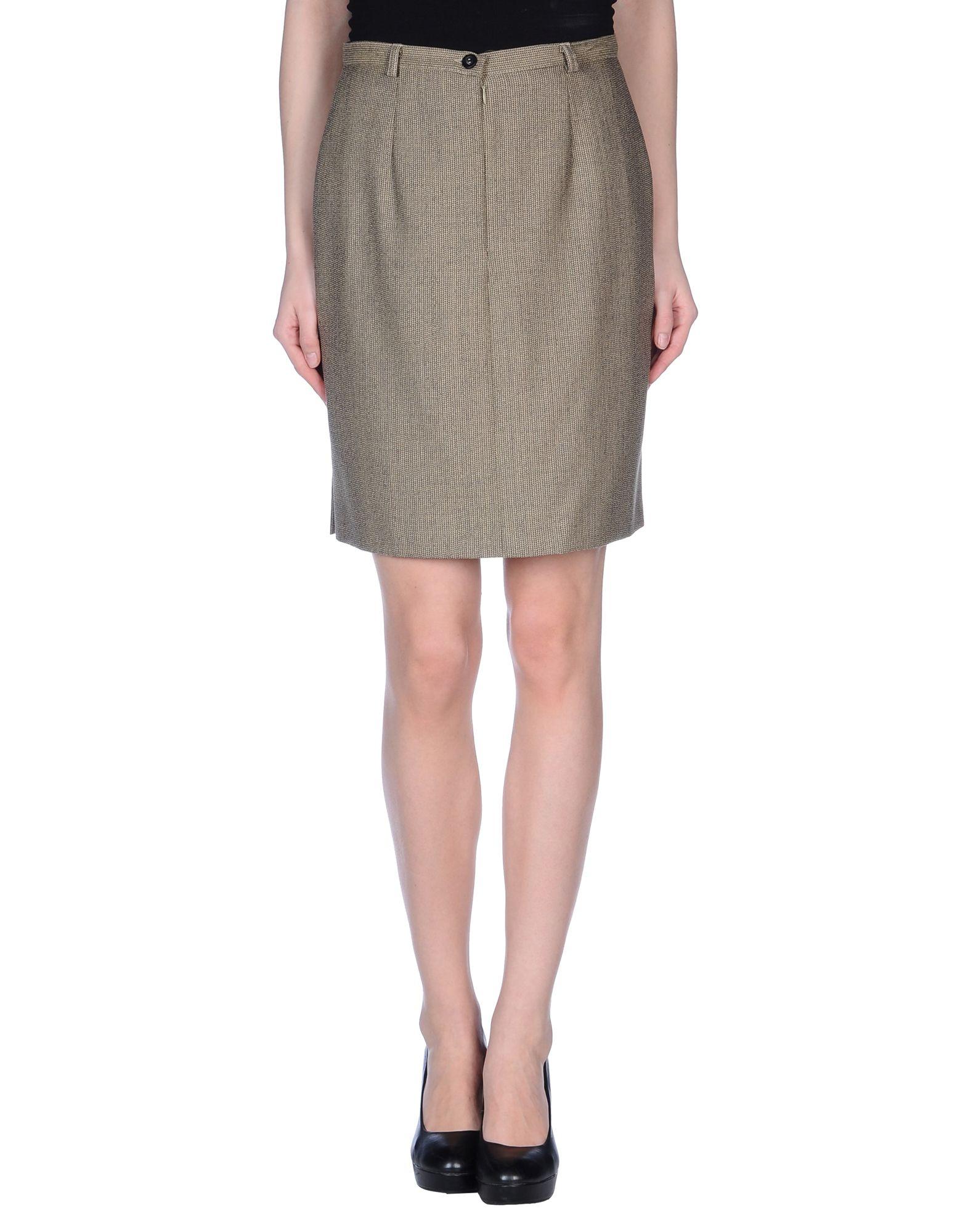 caractere knee length skirt in beige lyst