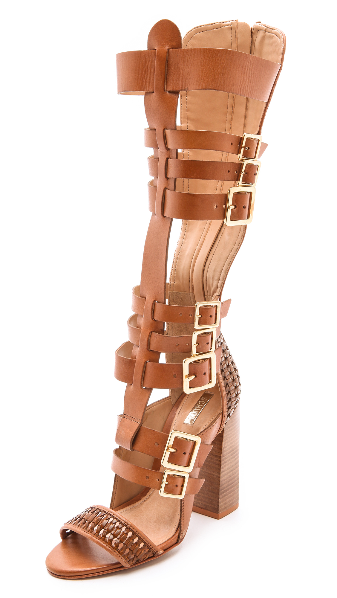 Schutz Yvone Tall Gladiator Sandals Brownie In Brown Lyst