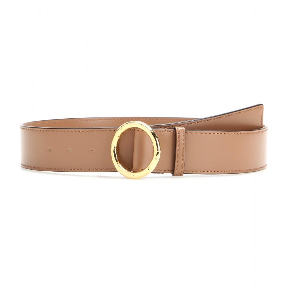 stella mccartney faux leather belt in brown lyst
