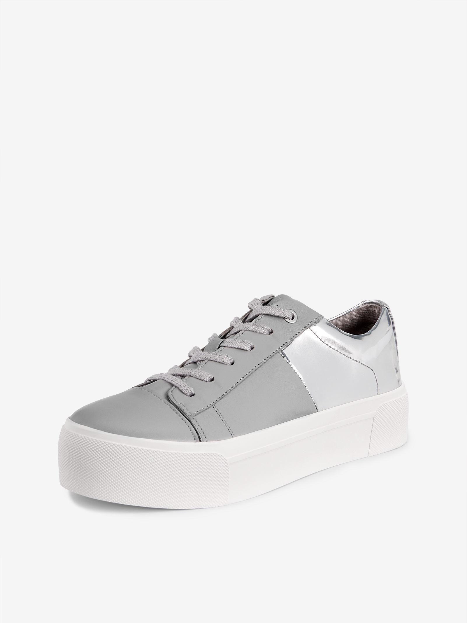 f680c18edec Lyst - DKNY Bari Metallic Platform Sneaker in Metallic