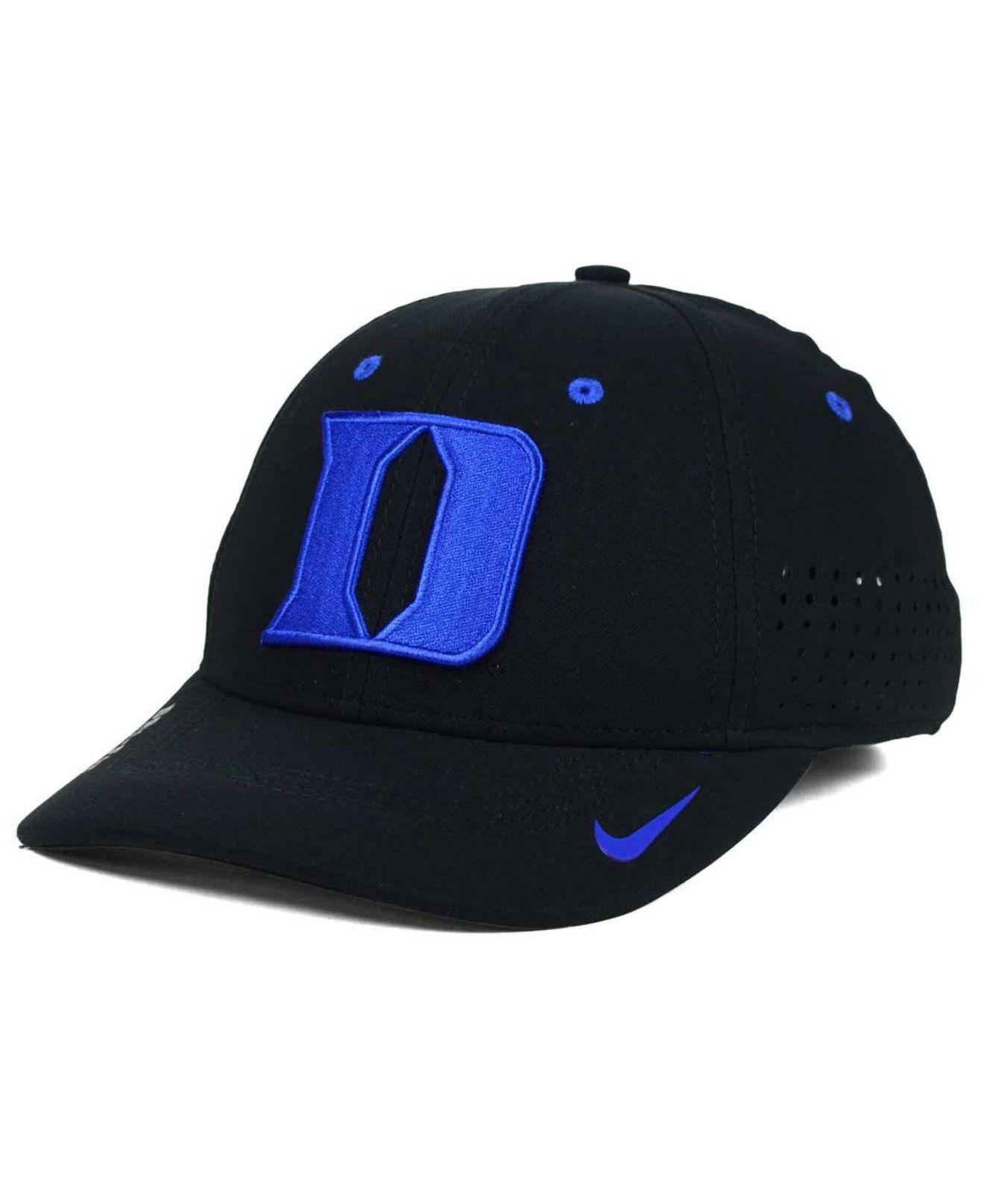 hot sale online 9864e 69b2b Nike Duke Blue Devils Sideline Cap in Black for Men - Lyst