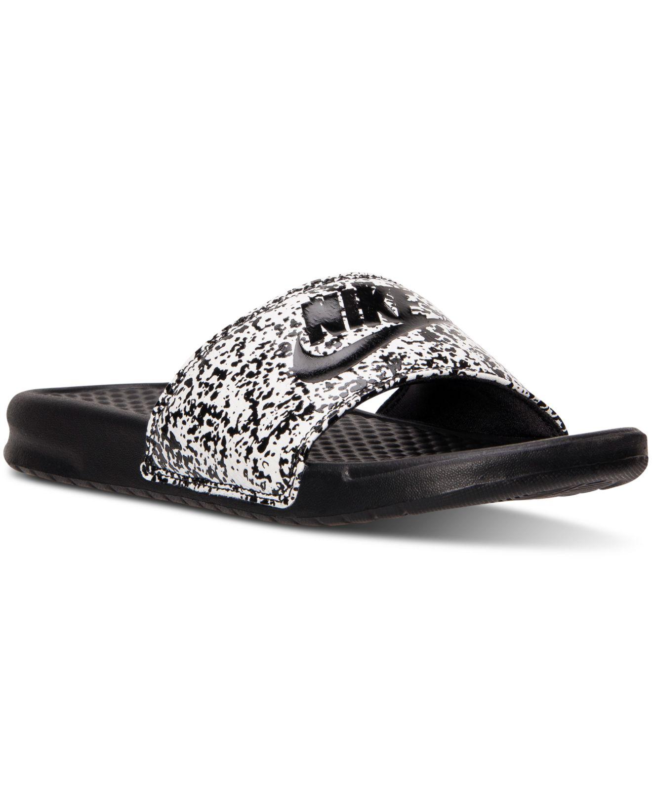 Nike Men S Benassi Jdi Print Slide Sandals From Finish