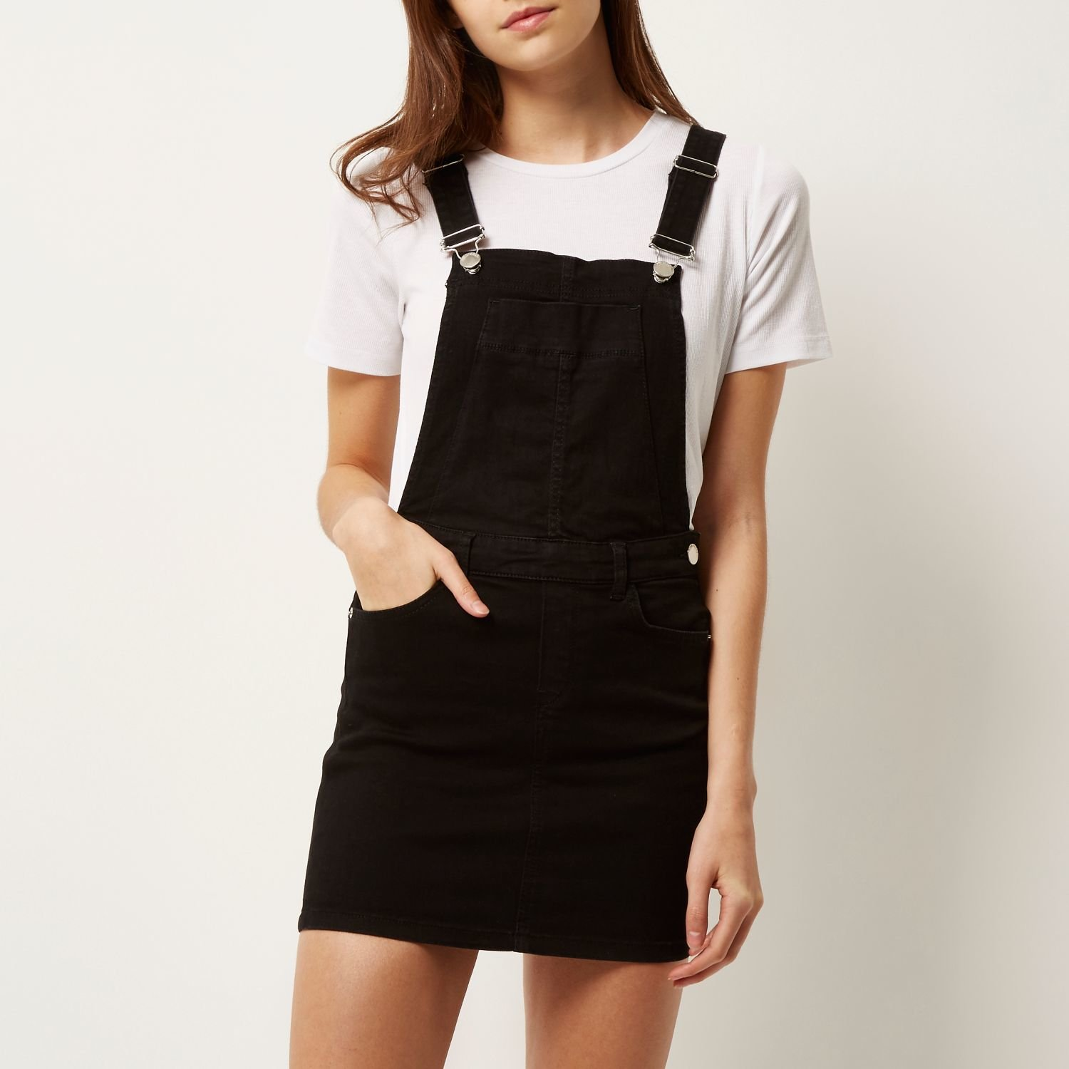 c24280f2a This dungaree dress is so Brit-pop fantastic. Take prep to the disco with