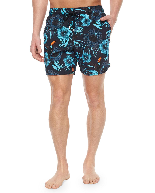 2ccf428517 Vilebrequin Moorea Toucan-Print Swim Trunks in Blue for Men - Lyst