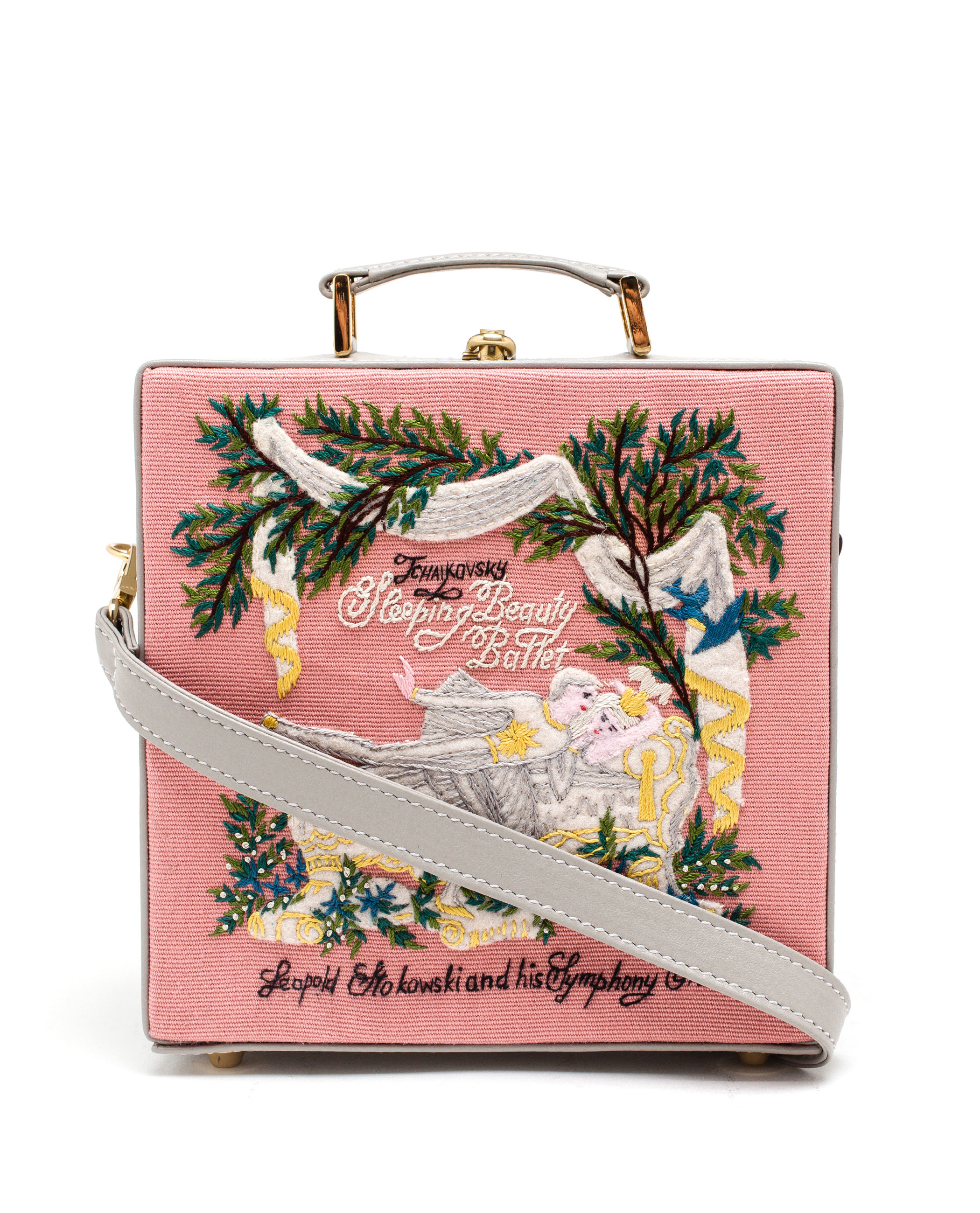 olympia le tan sleeping beauty box bag in pink lyst