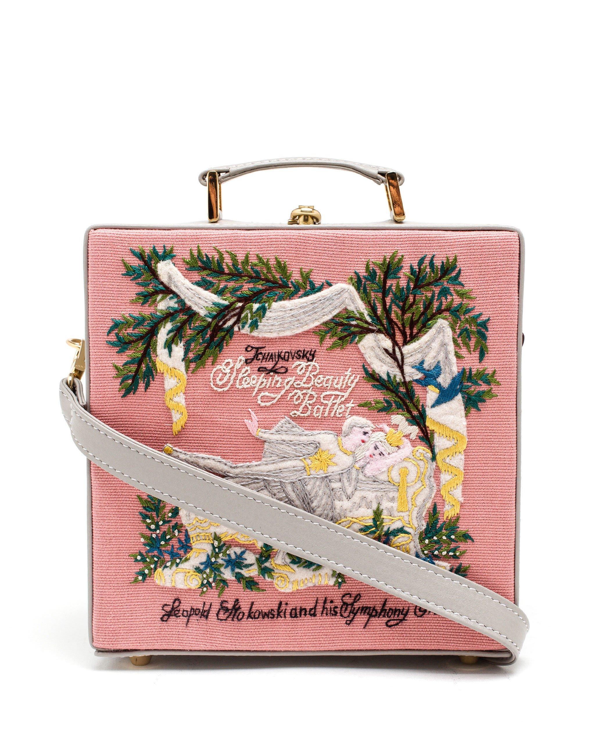 olympia le tan sleeping beauty box bag in pink lyst
