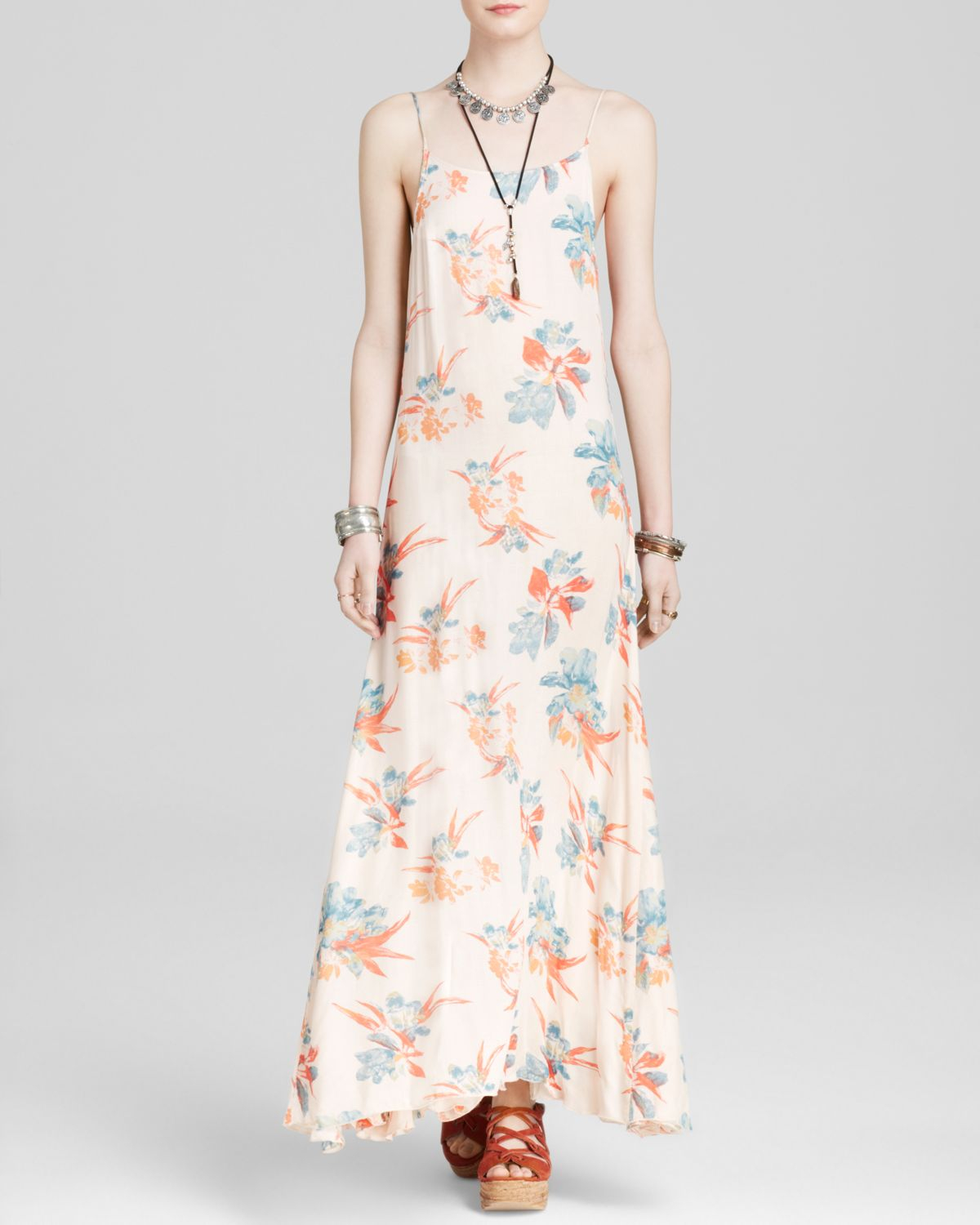 229bca721f514 Free People Slip Dress - Go To Printed Star Chasing in Pink - Lyst