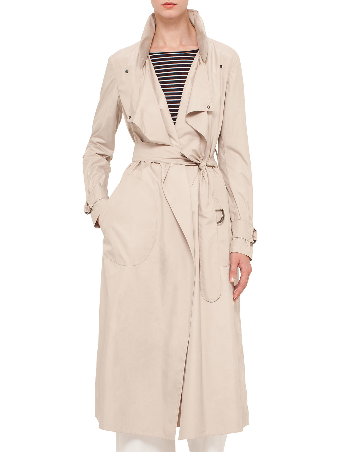 Original Akris belted trrench Store Cheap Price Clearance Clearance 1cIqcsQG