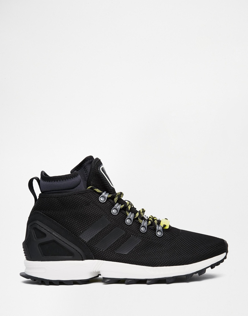 ... detailed images Lyst - Adidas Originals Zx Flux Winter Trainers S82933  in Black for Men 2e195 ... ed6f6df48f