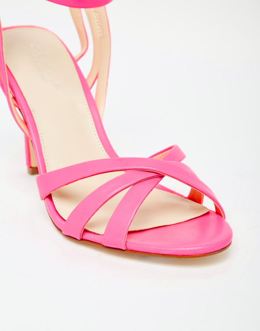 Pink Strappy High Heels