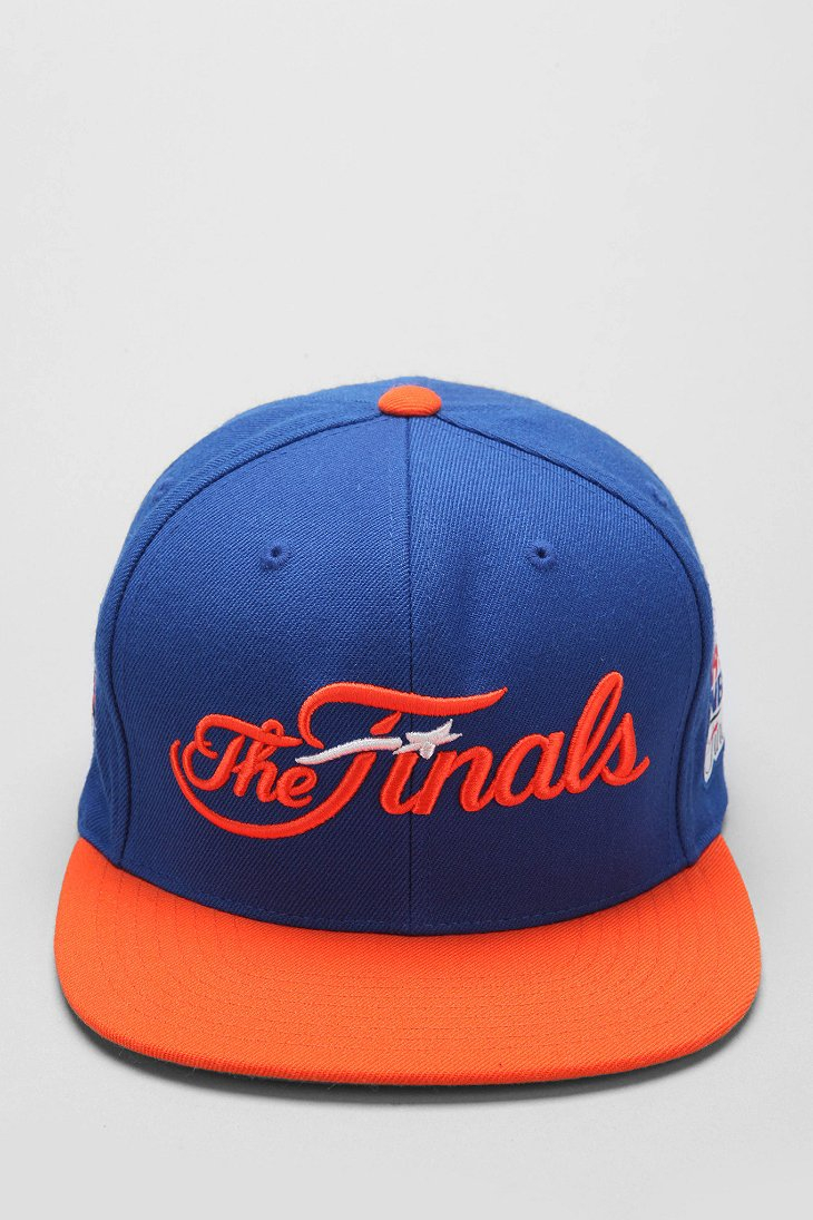 finest selection 54cf8 dbd1f Mitchell   Ness Mitchell Ness Finals New York Knicks Snapback Hat in ...