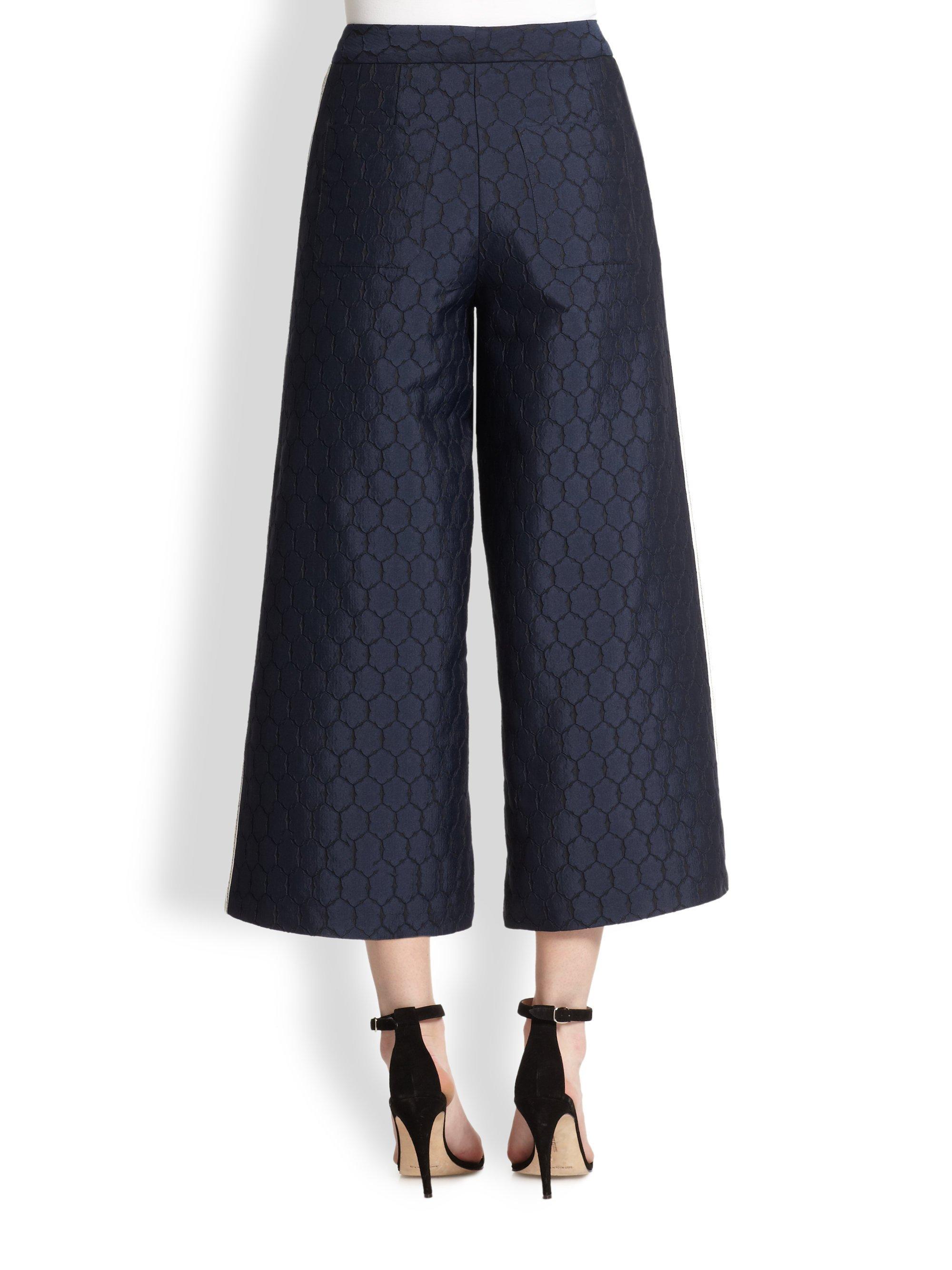 Sachin & babi Gerbera Wideleg Capri Pants in Blue | Lyst