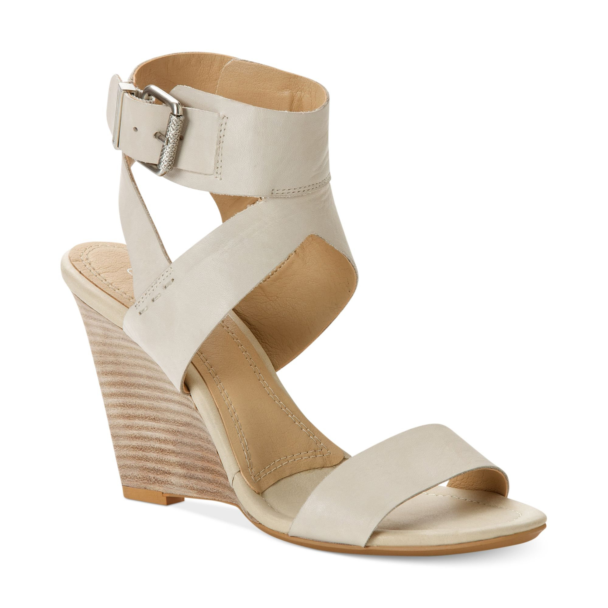 Calvin Klein Ck Jeans Womens Maisi Wedge Sandals in White ...