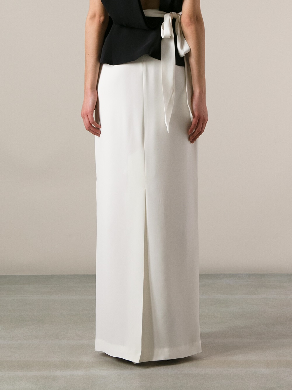Raoul Long Pencil Skirt in White | Lyst