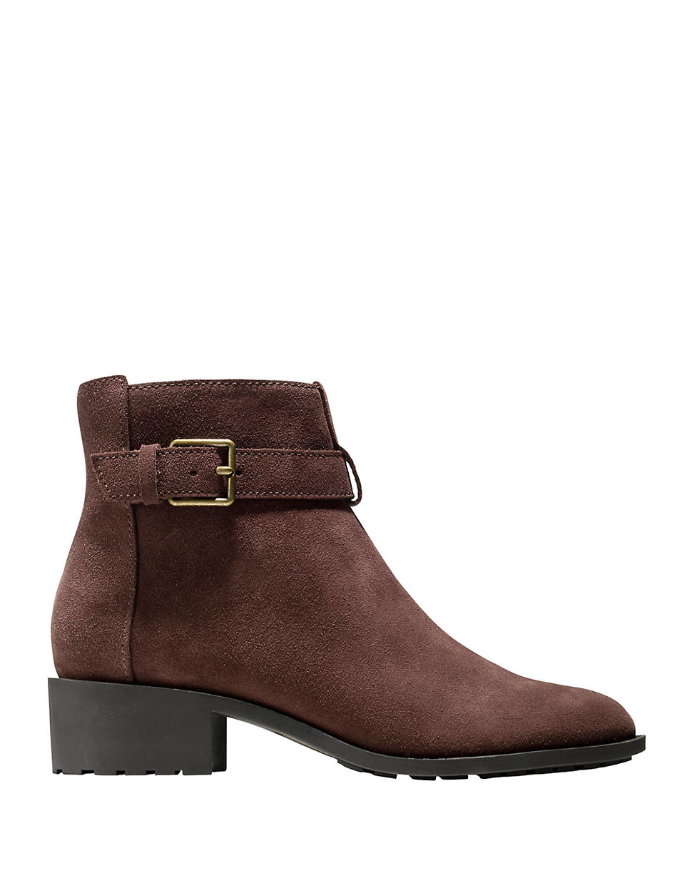 cole haan putname suede ankle boots in brown lyst