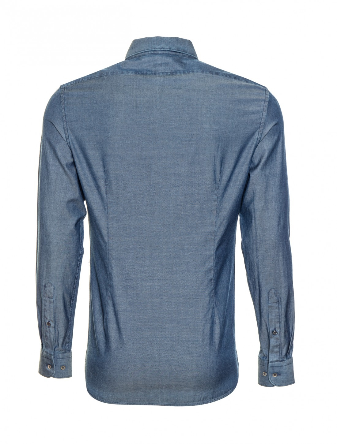 Dani california oxford chambray shirt in blue for Chambray jeans