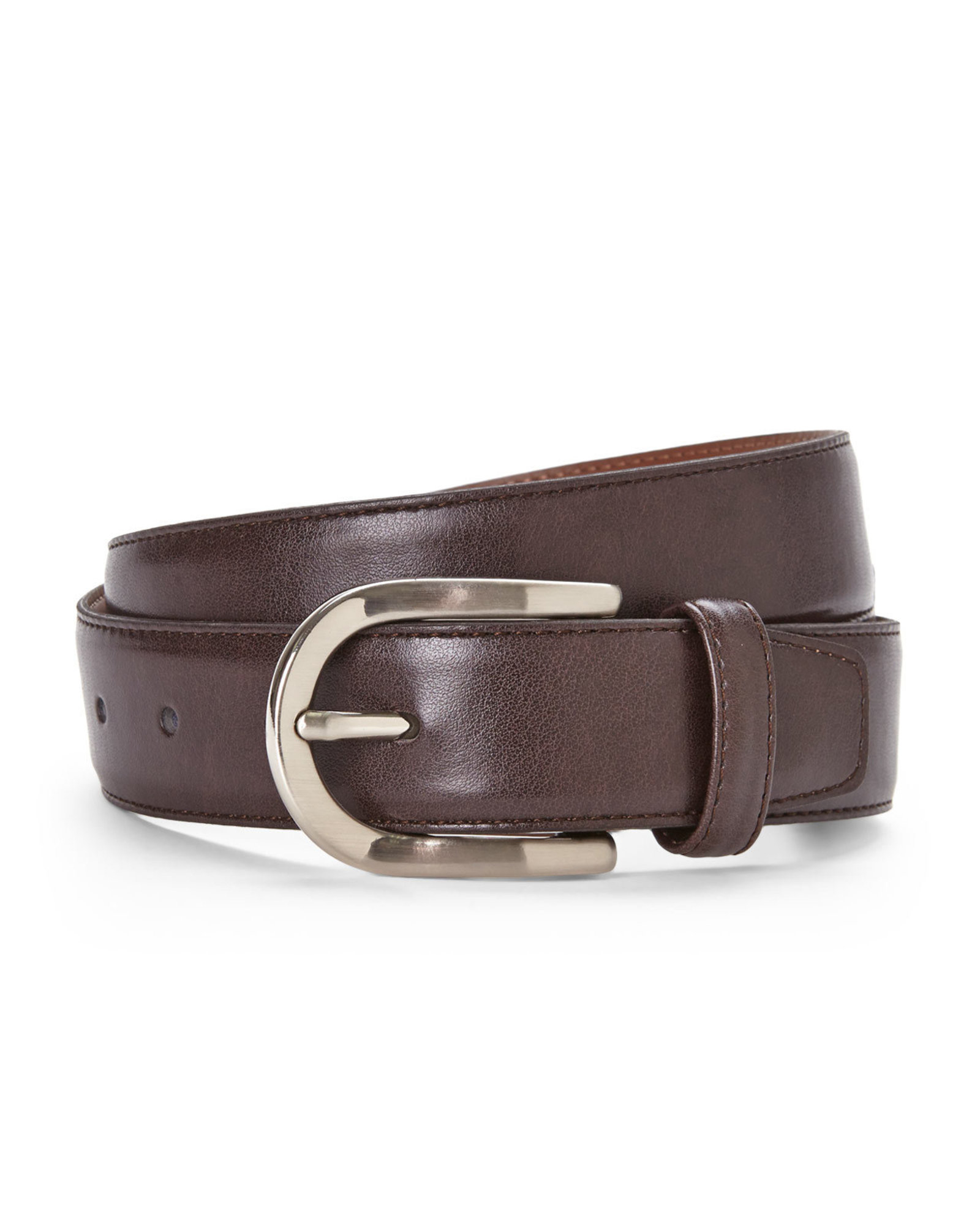 bosca genuine leather belt in brown for lyst