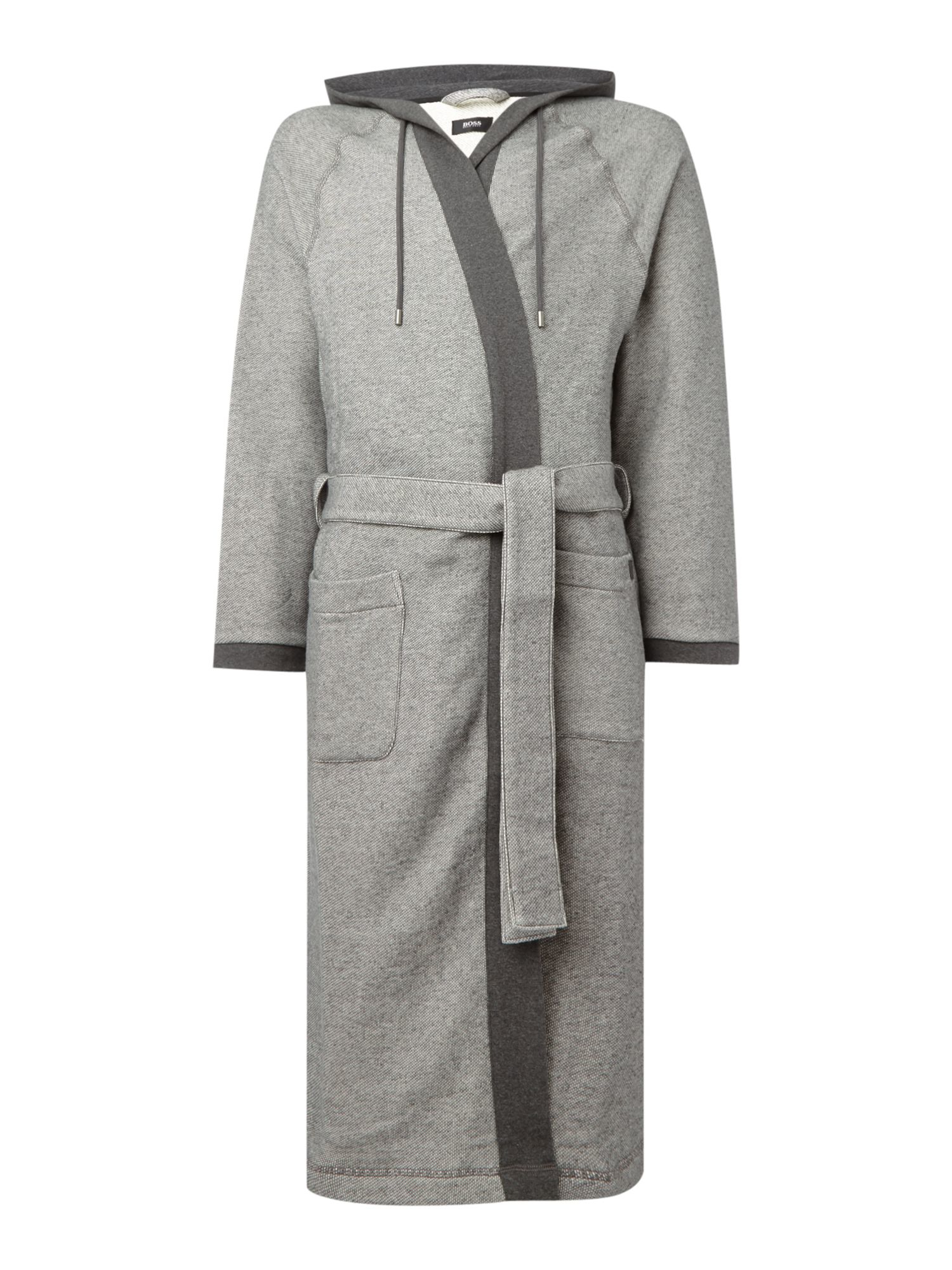 Boss Heritage Hooded Night Robe in Gray for Men | Lyst