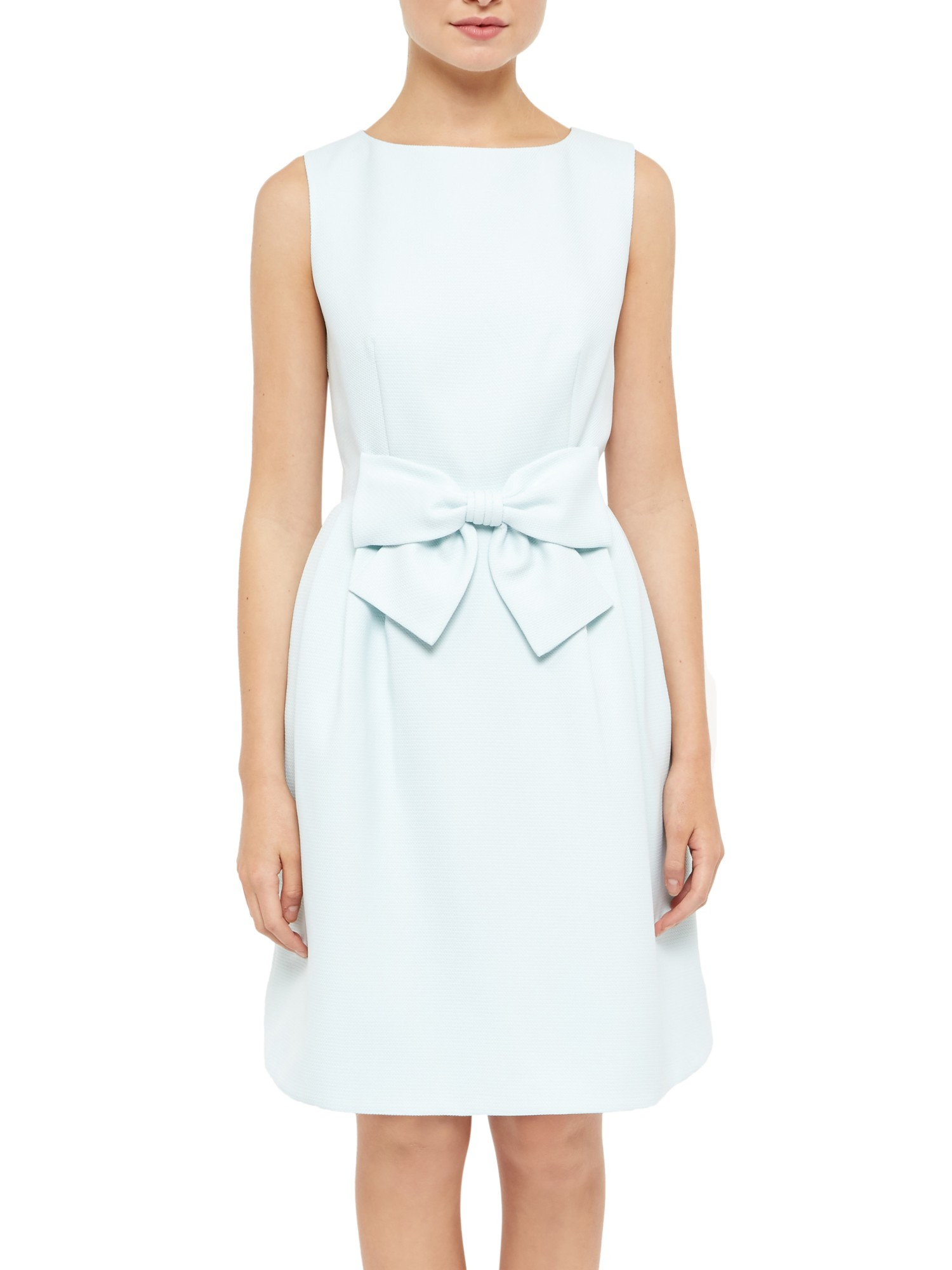1cf2495224732 Ted Baker Nuhad Bow Waist Detail Dress in Green - Lyst