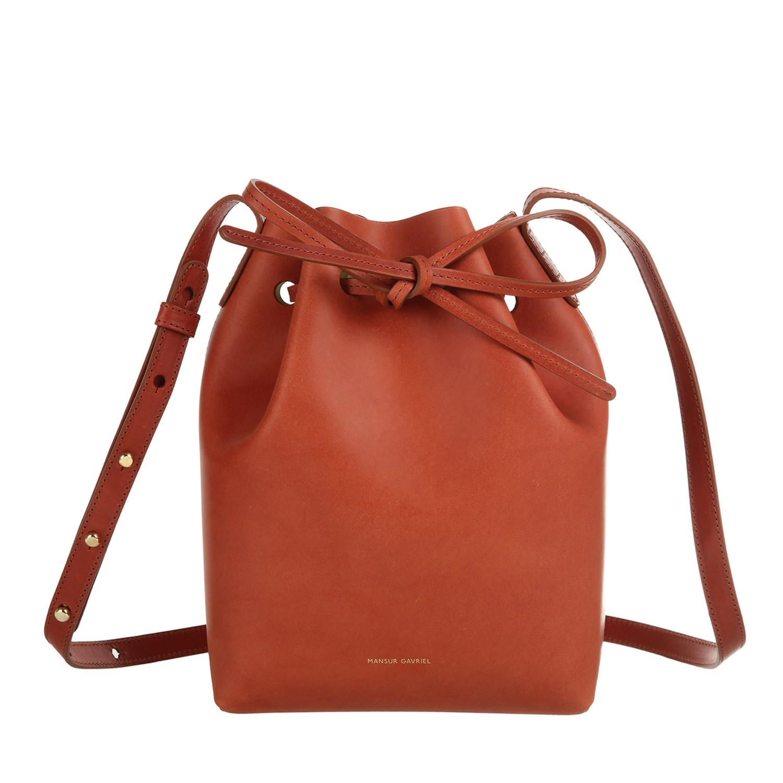 mansur gavriel mini bucket bag in orange lyst. Black Bedroom Furniture Sets. Home Design Ideas