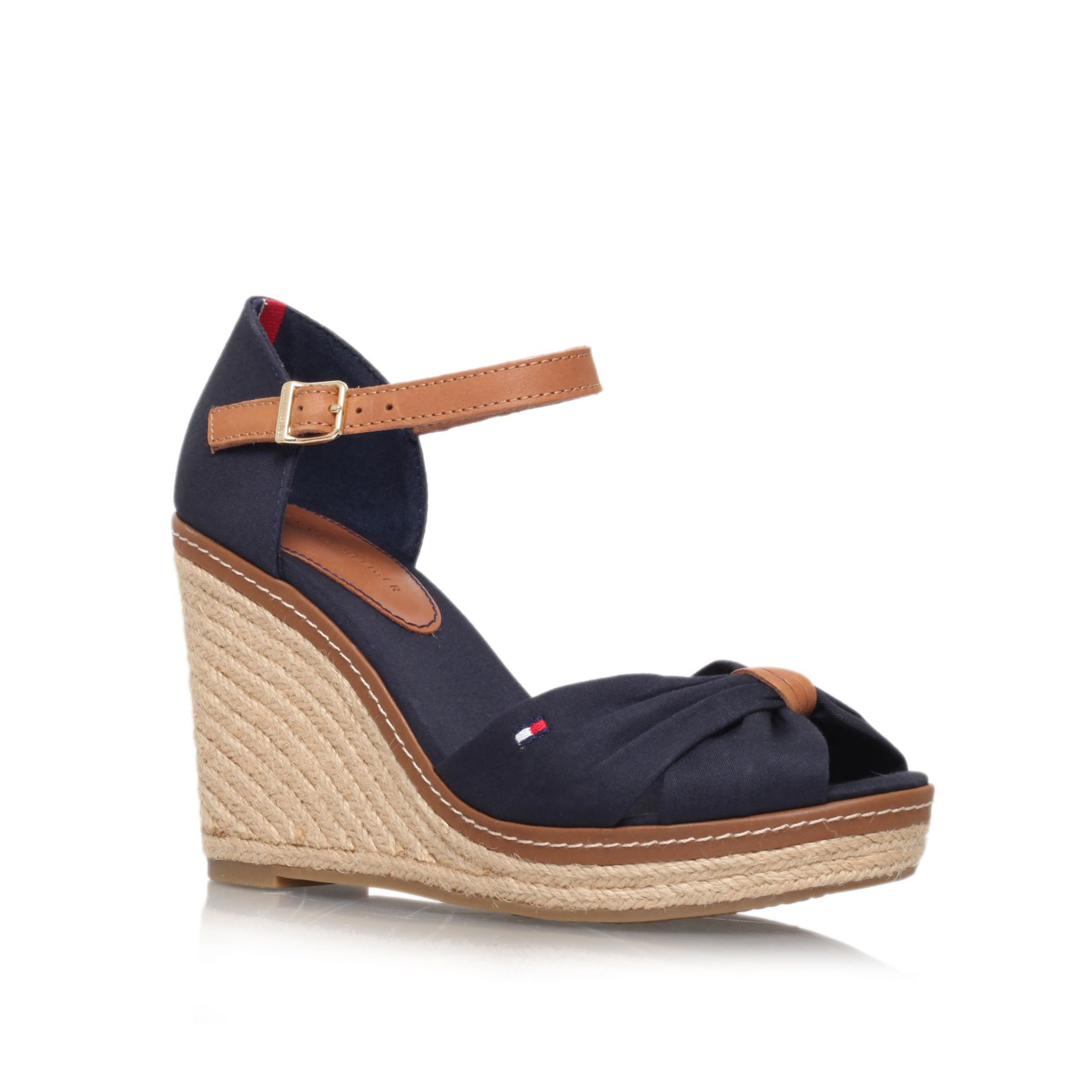 Tommy Hilfiger Emery 54d High Wedge Heel Sandals In Blue
