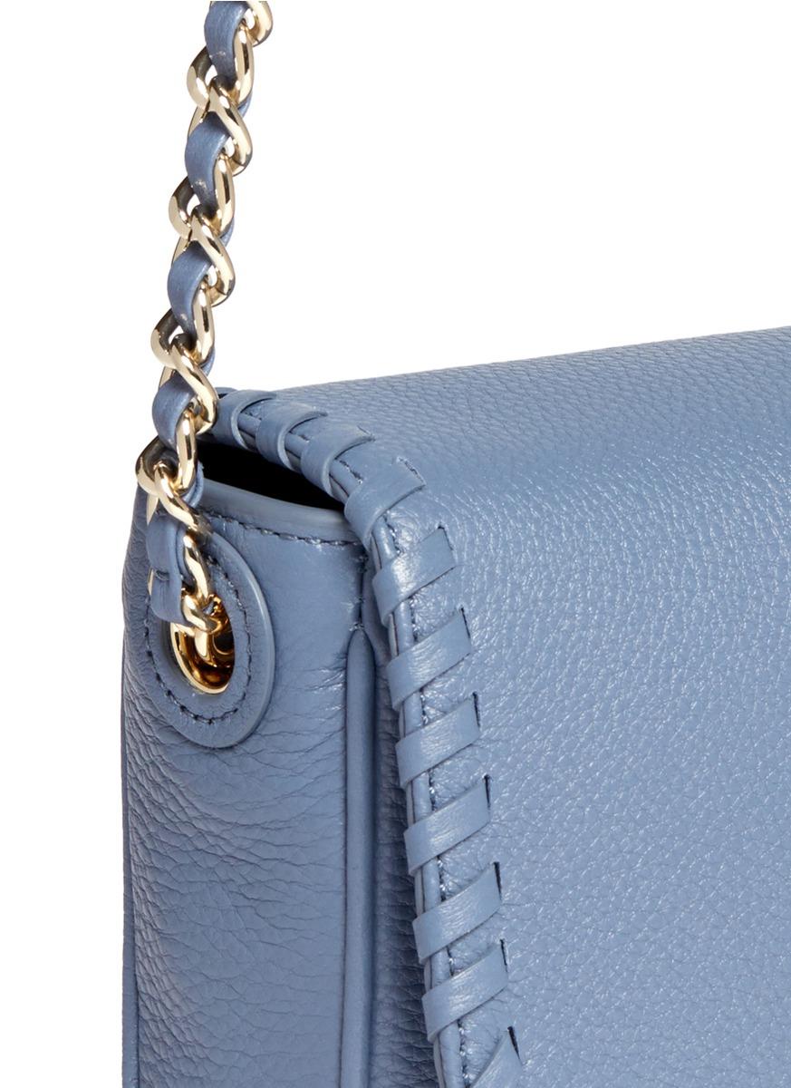419d9c4e8c5e Lyst - Tory Burch  marion  Mini Leather Crossbody Bag in Blue