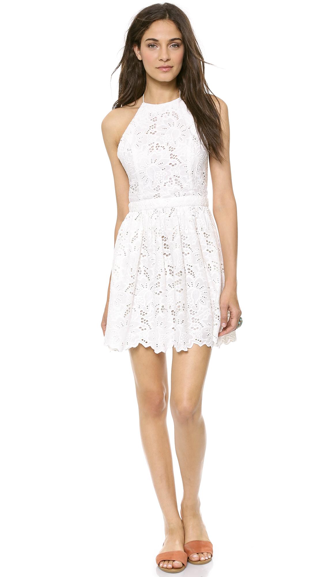 White eyelet zimmermann dress